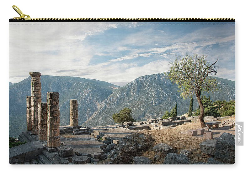Scenics Carry-all Pouch featuring the photograph Ancient Ruins At Delphi, Greece by Ed Freeman