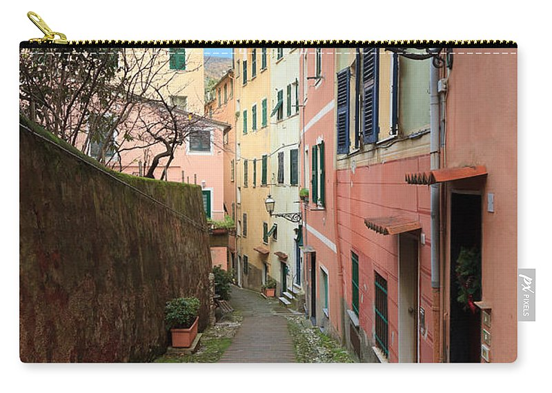 Ancient Carry-all Pouch featuring the photograph ancient street in Sori by Antonio Scarpi