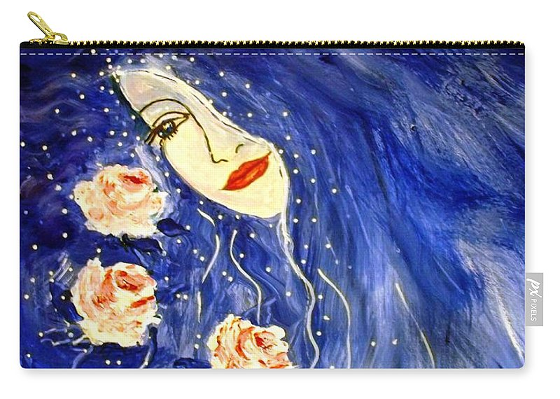 Love Carry-all Pouch featuring the painting And Her Love Grows... by Robin Monroe