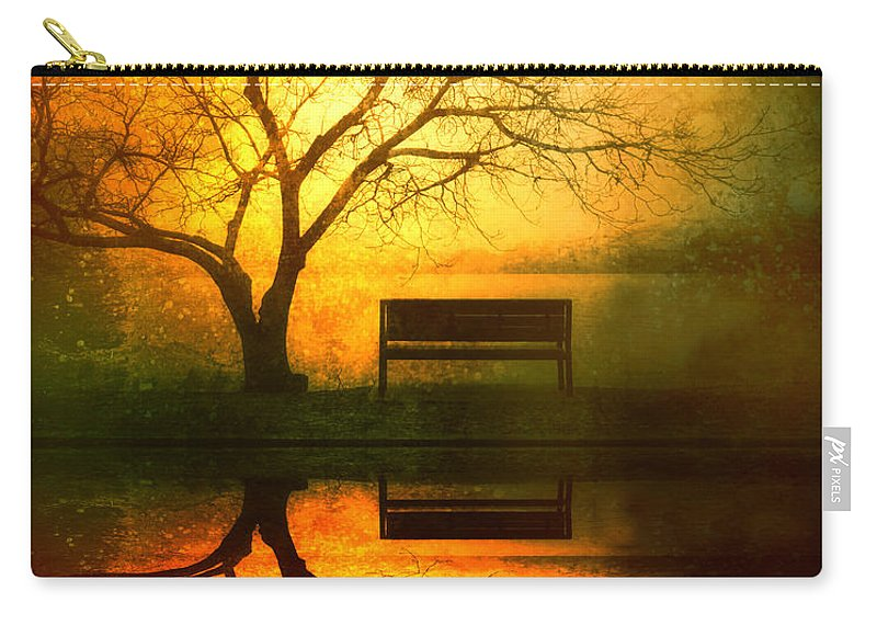 Bench Carry-all Pouch featuring the photograph And I Will Wait For You Until the Sun Goes Down by Tara Turner