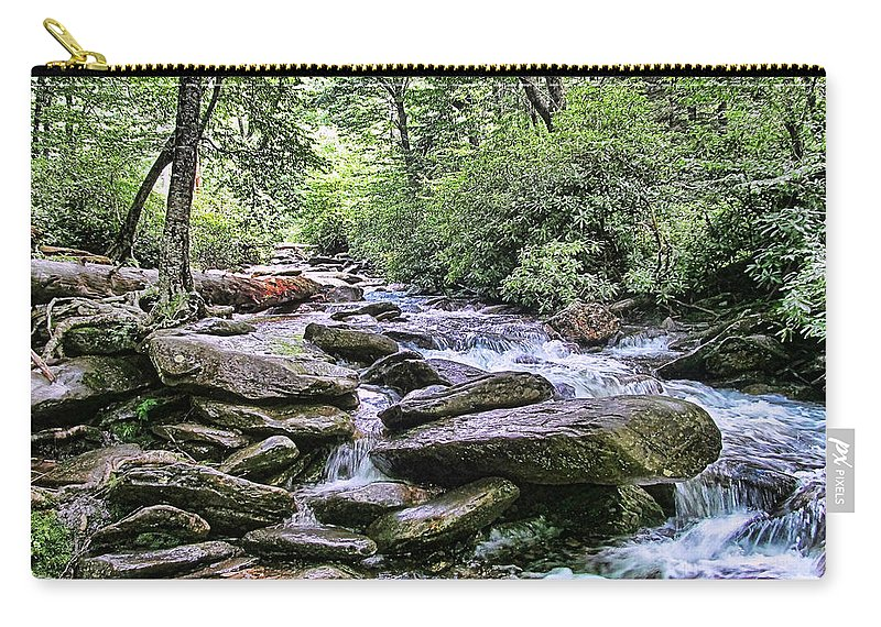 Victor Montgomery Carry-all Pouch featuring the photograph ...and The Creek Don't Rise by Victor Montgomery