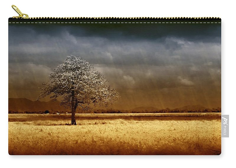 Landscapes Carry-all Pouch featuring the photograph And The Rains Came by Holly Kempe