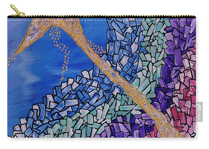 And The Star Said Carry-all Pouch featuring the painting And The Star Said by Barbara St Jean