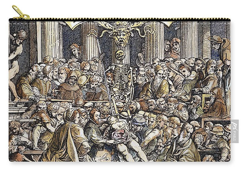 1543 Carry-all Pouch featuring the photograph Andreas Vesalius Teaching by Granger