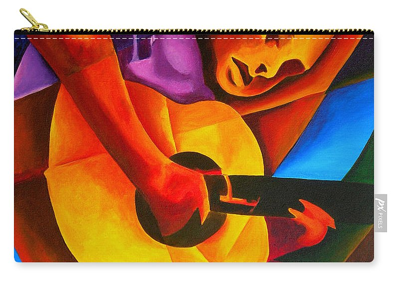 Male Carry-all Pouch featuring the painting Andres by Patricia Brintle