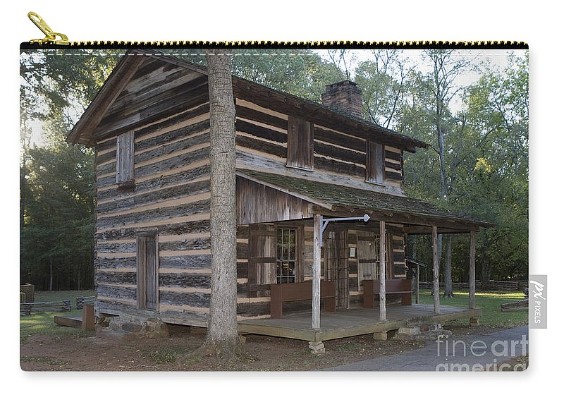 Log Cabin Carry-all Pouch featuring the photograph Andrew Logan Log Cabin Ninety Six National Historic Site by Jason O Watson