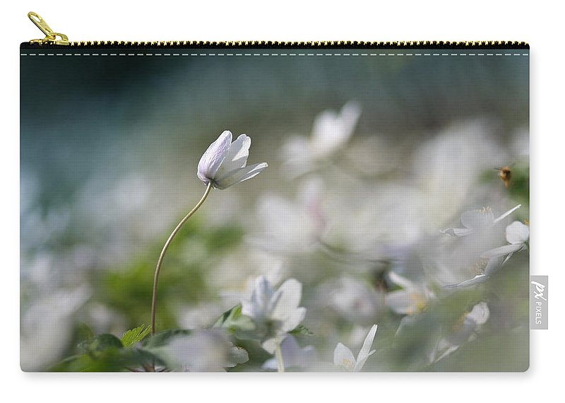 Photo Carry-all Pouch featuring the photograph Anemone Flower by Dreamland Media