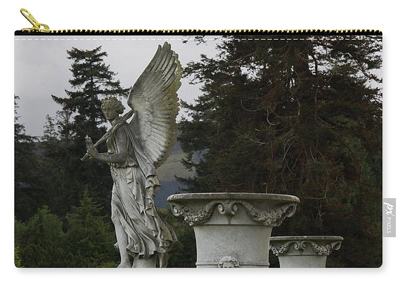 Angel Carry-all Pouch featuring the photograph Angel And Garden Urns by Christiane Schulze Art And Photography