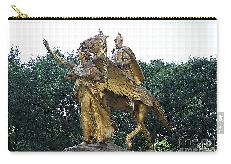 Angel Carry-all Pouch featuring the photograph Angel And Tecumseh Sherman by Christiane Schulze Art And Photography