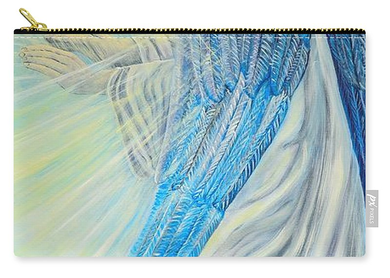 Angel Carry-all Pouch featuring the painting Angel Divine by Caroline Street