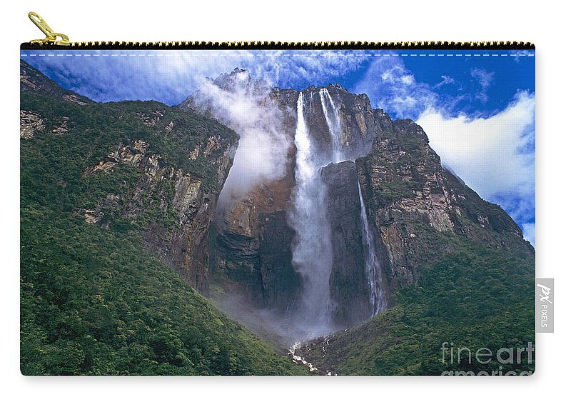 Venezuela Carry-all Pouch featuring the photograph Angel Falls In Canaima National Park Venezuela by Dave Welling