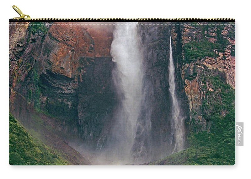 Angel Falls Carry-all Pouch featuring the photograph Angel Falls In Venezuela by Dave Welling