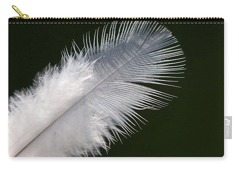 Angel Carry-all Pouch featuring the photograph Angel Feather by Carol Lynch