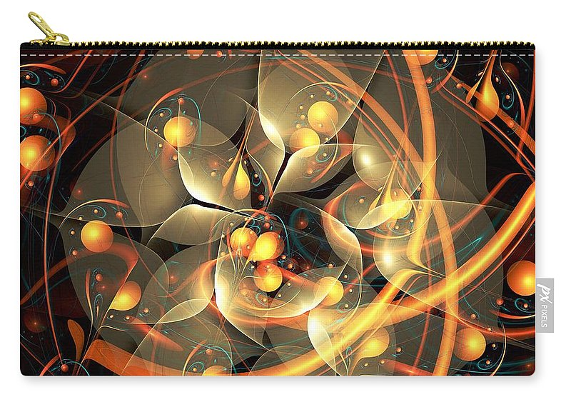 Malakhova Carry-all Pouch featuring the digital art Angel Flower by Anastasiya Malakhova