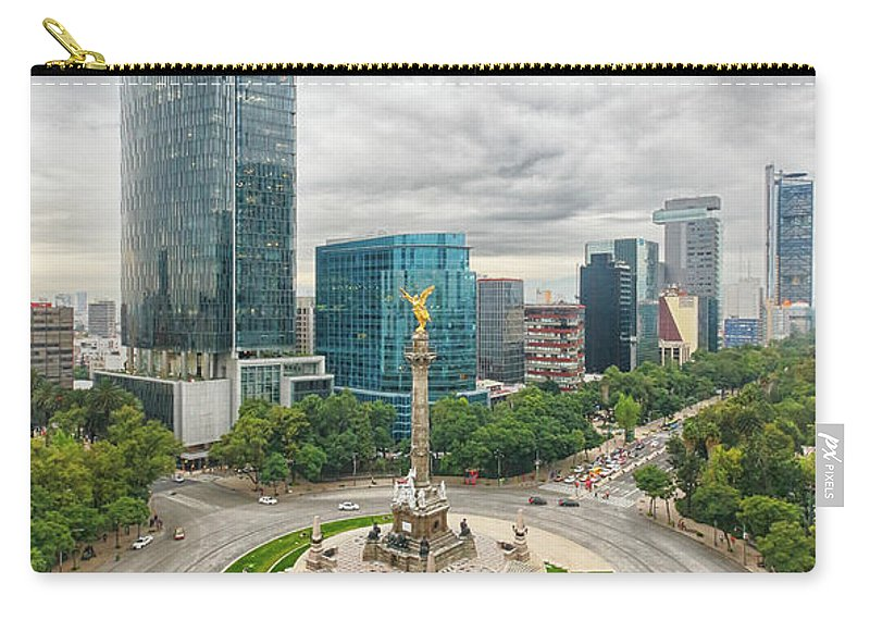 Mexico City Carry-all Pouch featuring the photograph Angel Of Independence, Mexico City by Sergio Mendoza Hochmann