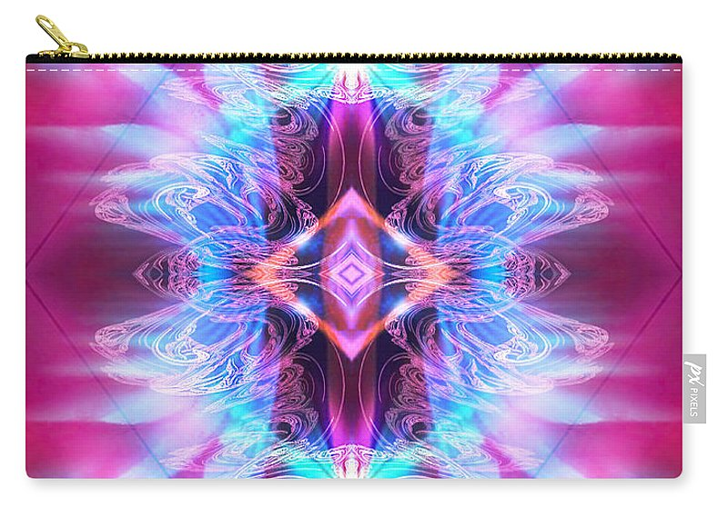 Angel Carry-all Pouch featuring the digital art Angel Of Talismans by Diana Haronis