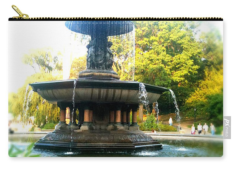 Bethesda Carry-all Pouch featuring the photograph Angel Of The Waters by Jon Woodhams