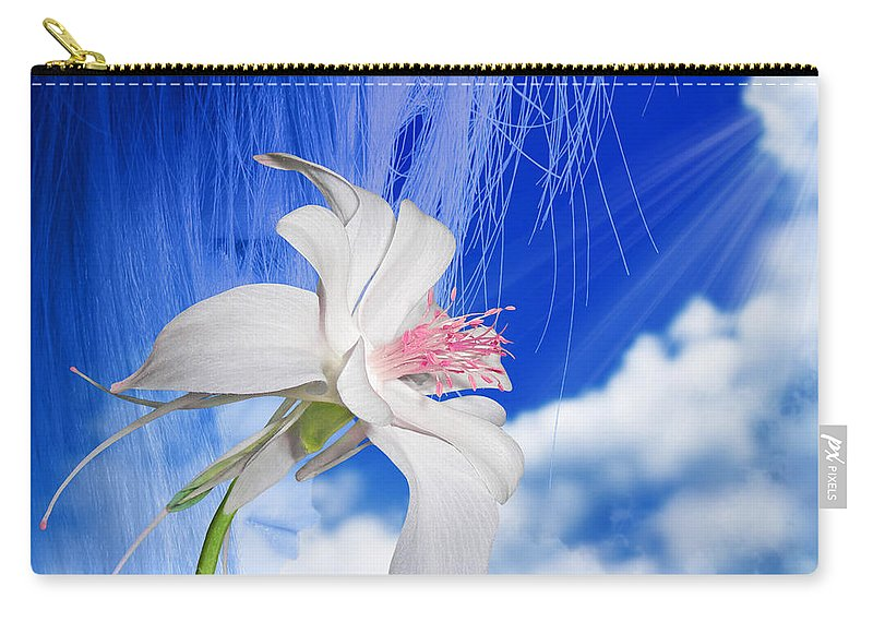 Fleurogeny Art Carry-all Pouch featuring the digital art Angel by Torie Tiffany
