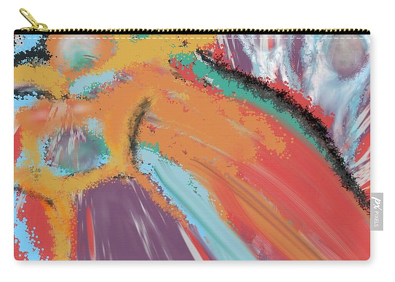 Abstract Carry-all Pouch featuring the digital art Angels And Demons by Christine Fournier