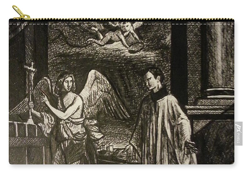 Carry-all Pouch featuring the painting Angels And Saints by Jude Darrien