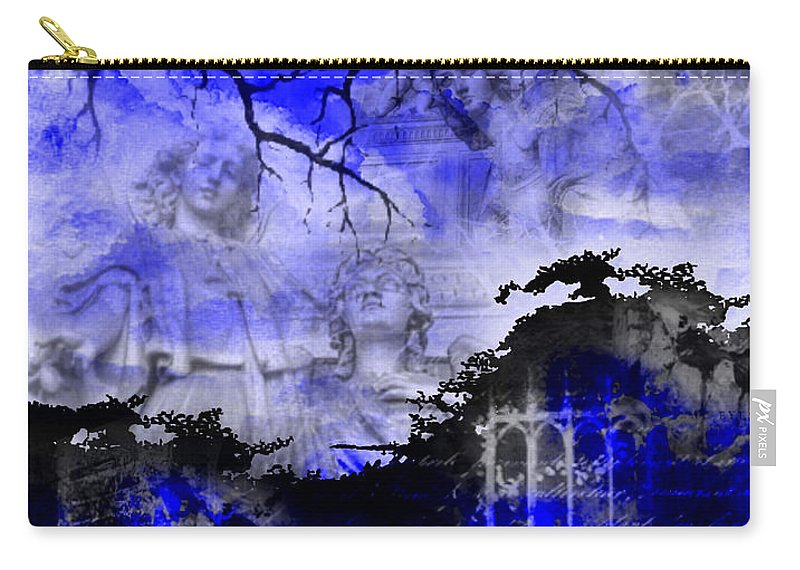 Angels Carry-all Pouch featuring the digital art Angels In Gothica by Michael Damiani
