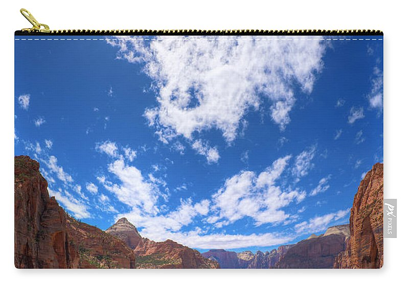 Zion Carry-all Pouch featuring the photograph Angel's Landing by Alexey Stiop