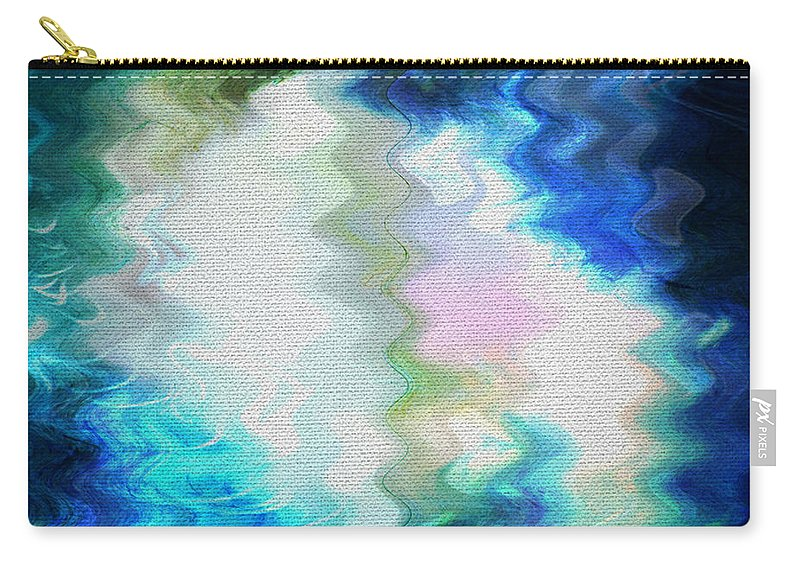 Abstract Carry-all Pouch featuring the digital art Angels Of Peace by Absinthe Art By Michelle LeAnn Scott