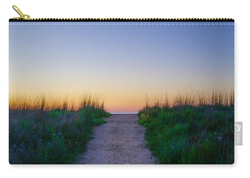 Angelsea Carry-all Pouch featuring the photograph Angelsea Beach Path Before Sunrise by Bill Cannon