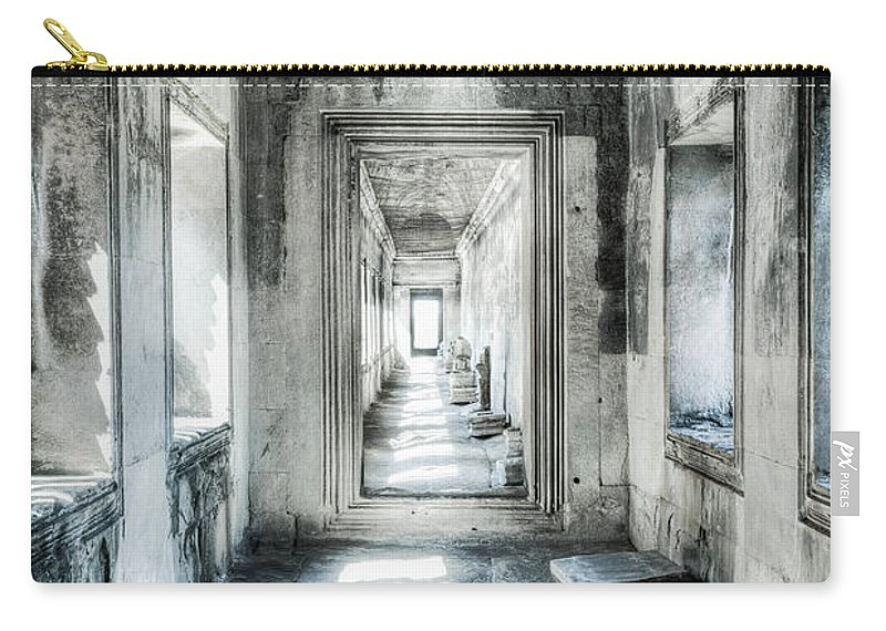 Angkor Wat Carry-all Pouch featuring the photograph Angkor Wat Gallery by Alexey Stiop