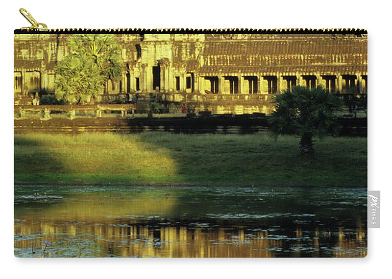 Angkor Carry-all Pouch featuring the photograph Angkor Wat Reflections 02 by Rick Piper Photography