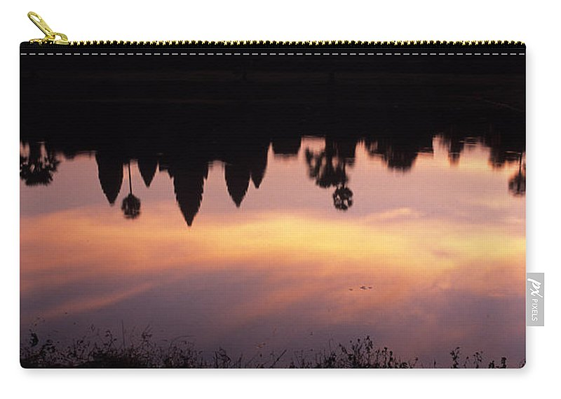 Site Carry-all Pouch featuring the photograph Angkor Wat Sunrise Cambodia by Ryan Fox