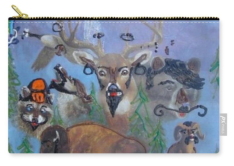 Dear Carry-all Pouch featuring the painting Animal Equality by Lisa Piper
