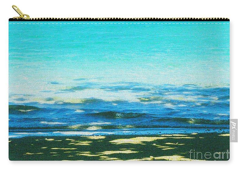Beach Carry-all Pouch featuring the photograph Anini Beach Kauai by Roselynne Broussard