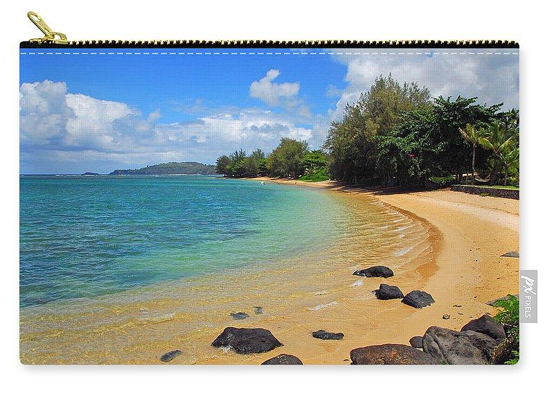 Anini Beach Carry-all Pouch featuring the photograph Anini Beach by Lynn Bauer