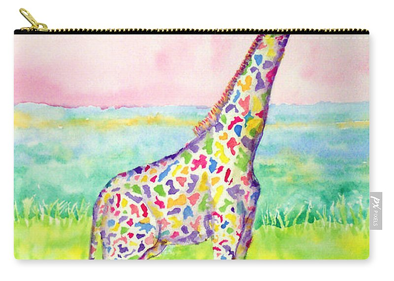 Giraffe Carry-all Pouch featuring the painting Annabelle by Rhonda Leonard