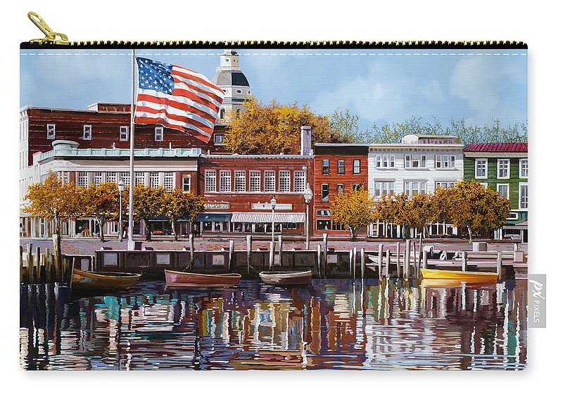 Annapolis Carry-all Pouch featuring the painting Annapolis by Guido Borelli