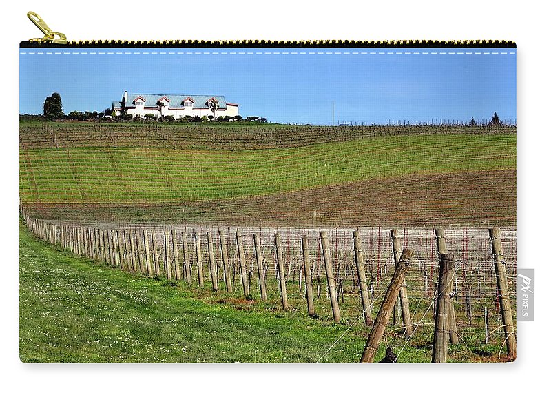 Anne Carry-all Pouch featuring the photograph Anne Amie Vineyard 23114 by Jerry Sodorff