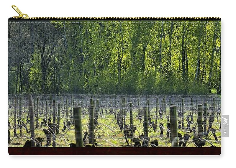Anne Carry-all Pouch featuring the photograph Anne Amie Vineyard 23126 by Jerry Sodorff