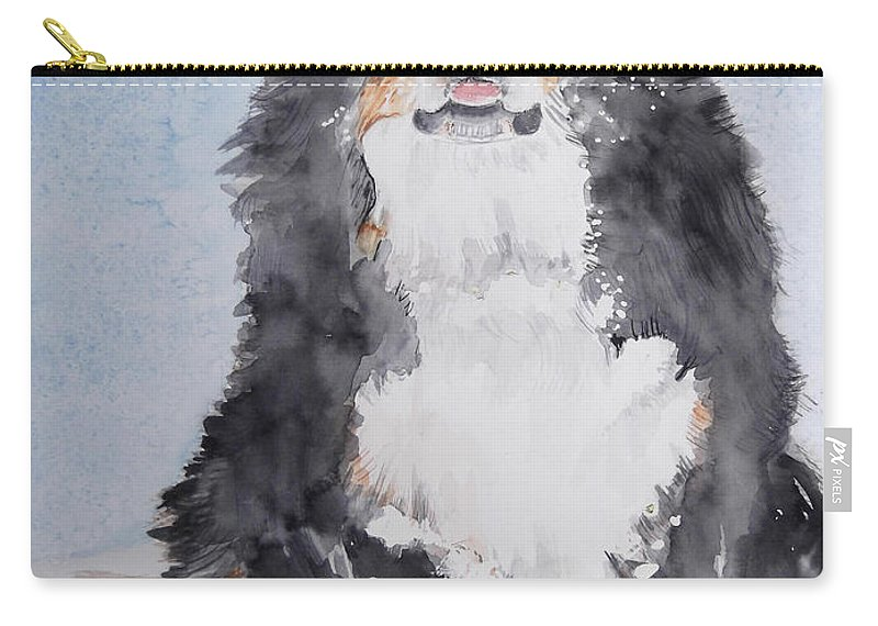 Dog Carry-all Pouch featuring the painting Anne Bell by Kathy Sievering
