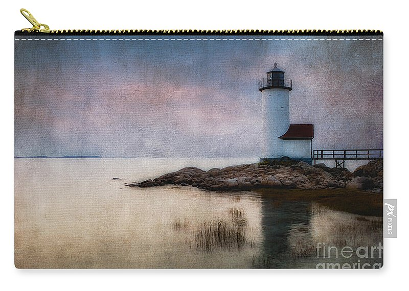 Annisquam Carry-all Pouch featuring the photograph Annisquam Harbor Lighthouse by Jerry Fornarotto