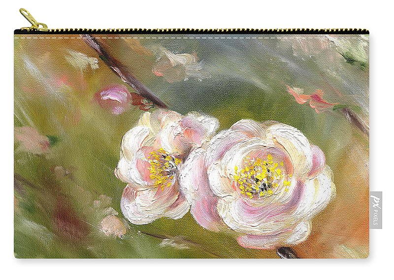 Flower Carry-all Pouch featuring the painting Anniversary by Hiroko Sakai