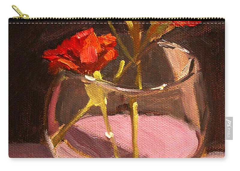 Anniversary Carry-all Pouch featuring the painting Anniversary by Nancy Merkle