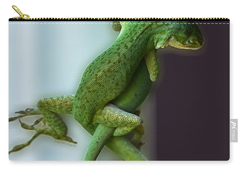 Anoles Carry-all Pouch featuring the photograph Anole Lovers by DigiArt Diaries by Vicky B Fuller