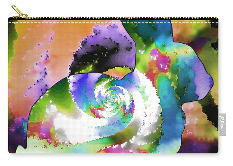 Fractal Art Carry-all Pouch featuring the digital art Another Rabbit Hole For Alice by Elizabeth McTaggart