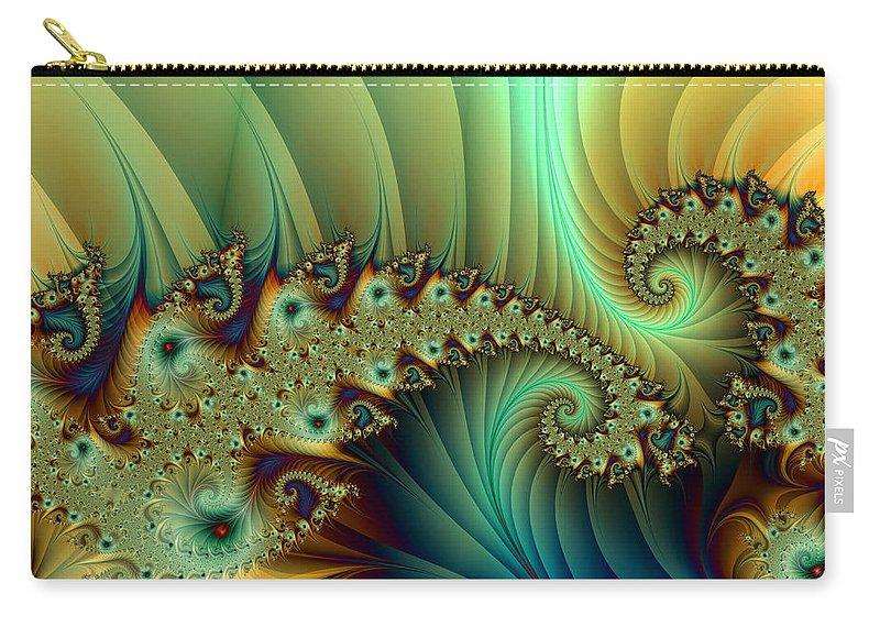 Digital Art Carry-all Pouch featuring the digital art Another Secret Place by Gabiw Art