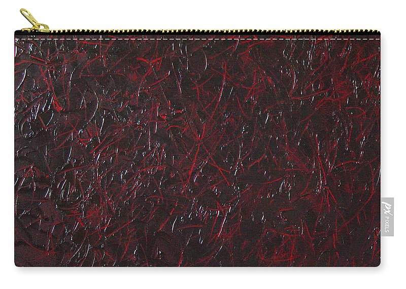 Abstract Carry-all Pouch featuring the painting Another Shedding by Dean Triolo