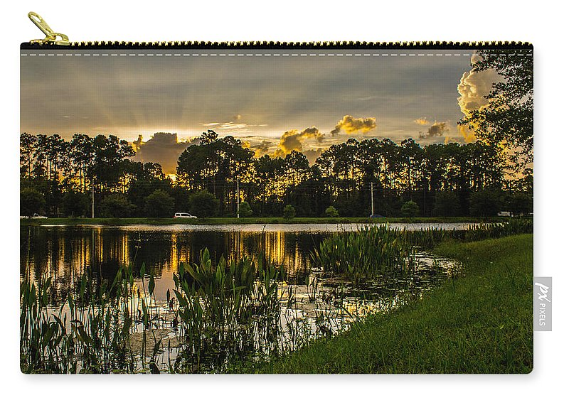 Sunshine Carry-all Pouch featuring the photograph Another Sun by Tyson Kinnison