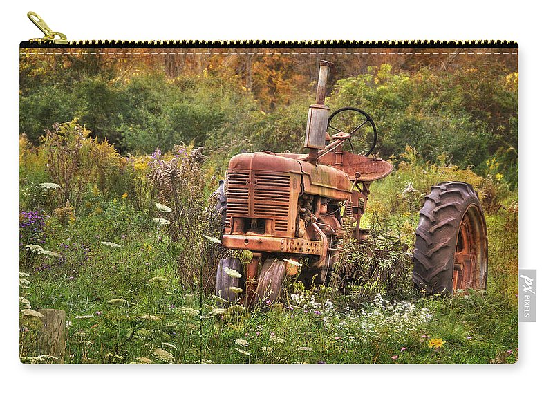 Tractor Carry-all Pouch featuring the photograph Another Time by Lori Deiter