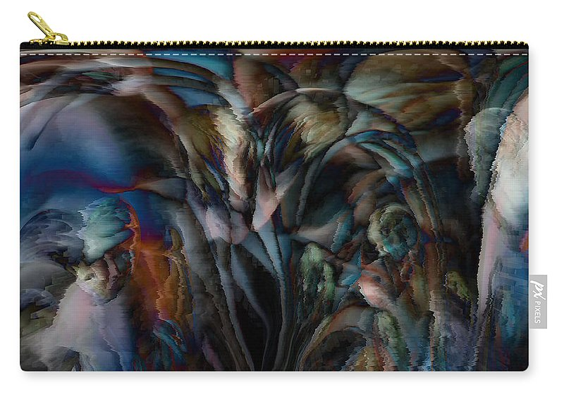 Another World Art Carry-all Pouch featuring the digital art Another World by Linda Sannuti