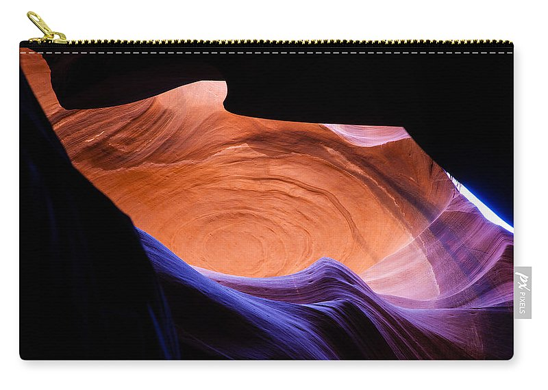Antelope Canyon Carry-all Pouch featuring the photograph Antelope Canyon - Page Az by Rob Travis